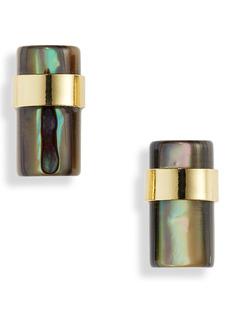 Halogen® Abalone Cylinder Stud Earrings