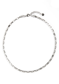 Halogen® Box Chain Collar Necklace
