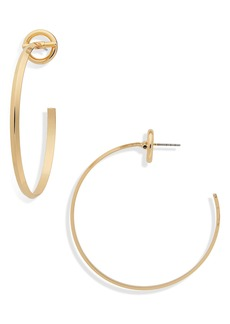 Halogen® Circle Post Hoop Earrings