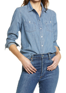 Halogen® Classic Chambray Button-Up Shirt