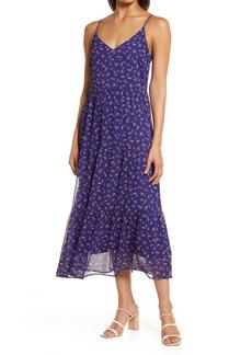 Halogen® Floral Tiered Chiffon Maxi Dress
