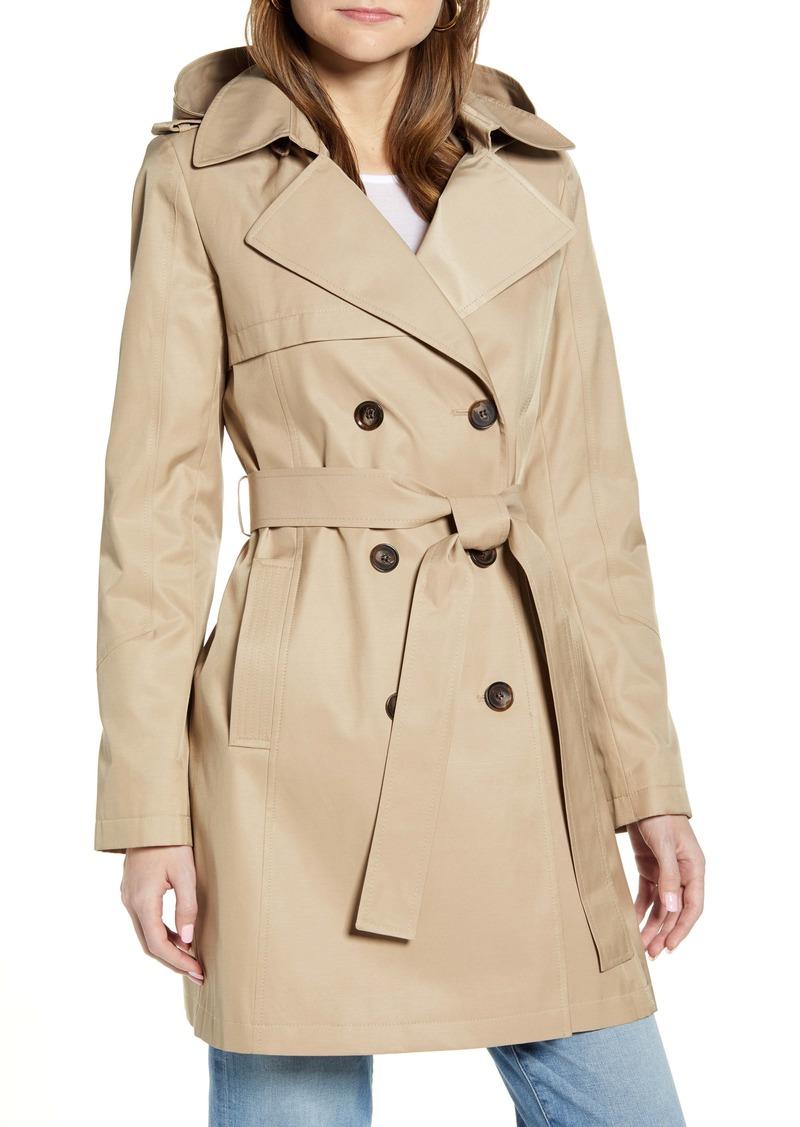Halogen® Hooded Trench Coat (Regular & Petite)
