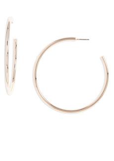 Halogen® Large Sleek Tube Hoop Earrings