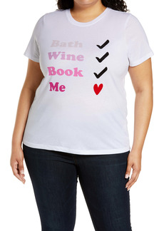 Halogen® Me Time Graphic Tee (Plus Size)