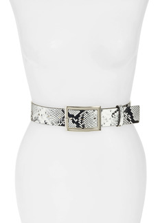 Halogen® Metallic Snake Print Belt