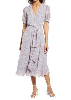 Halogen® Puff Sleeve Midi Dress