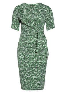 Halogen® Side Tie Midi Dress (Plus Size)