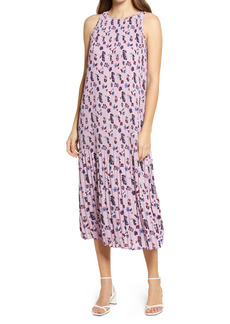 Halogen® Sleeveless Pleated Dress (Regular & Petite)