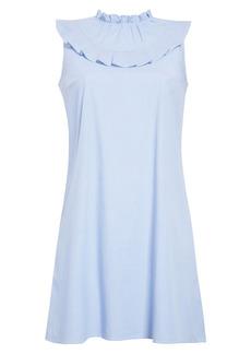 Halogen® Sleeveless Ruffle Yoke Shift Dress (Regular & Petite)