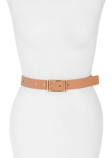 Halogen® Square Buckle Leather Belt