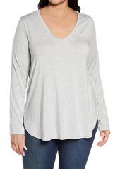 Halogen® Stripe Tunic (Plus Size)
