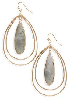 Halogen® Teardrop Stone Earrings