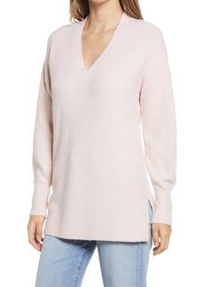 Halogen® Cozy V-Neck Tunic Sweater