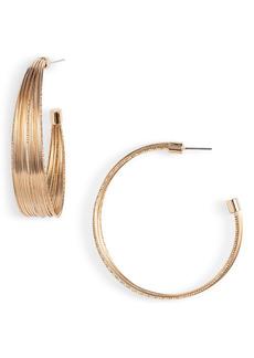 Halogen® Wide Wire Hoop Earrings