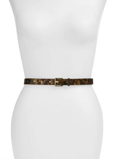 Halogen Tortoiseshell Print Faux Leather Belt
