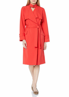 HALSTON Women's Suiting Trench Coat