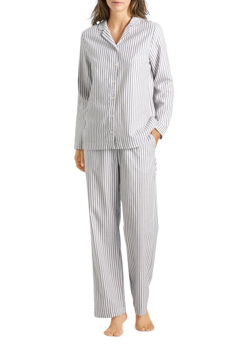 Hanro Edda Plaid Cotton Flannel Pajama Set