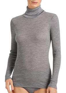 Hanro Karla Seamless Wool & Silk Turtleneck Top
