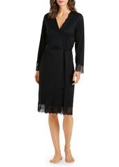Hanro Wanda Lace Trim Robe