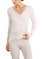 Hanro Wool & Silk Lace Long Sleeve Top