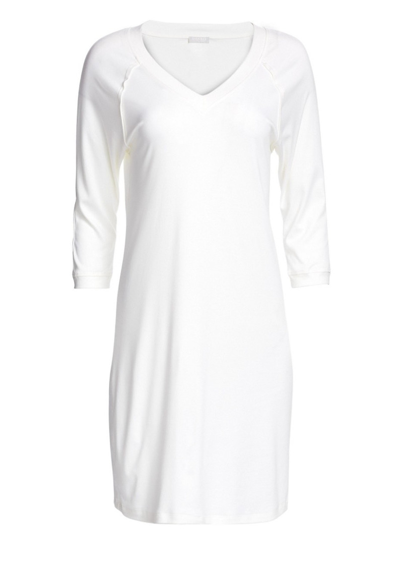 Hanro Pure Essence Three-Quarter Sleeve Gown