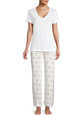 Hanro Sleep and Lounge Short Sleeve Knit Top