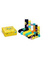 Happy Socks x SpongeBob Assorted 6-Pack Crew Socks Gift Box