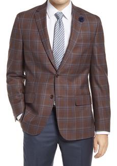 Hart Schaffner Marx Classic Fit Deco Plaid Wool Sport Coat