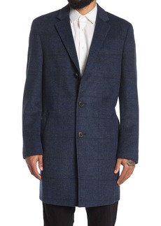 Hart Schaffner Marx Dobson Tonal Plaid Wool Blend Coat