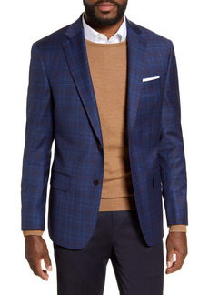 Hart Schaffner Marx Classic Fit Plaid Stretch Wool Sport Coat