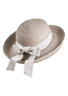 Women's Helen Kaminski Newport Raffia Straw Hat - Grey