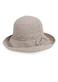 Women's Helen Kaminski 'Provence 10' Packable Raffia Hat - Grey