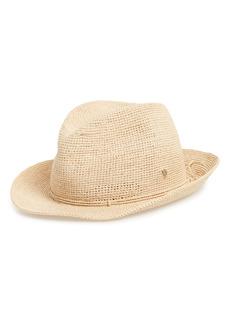 Women's Helen Kaminski Raffia Crochet Packable Sun Hat - Beige