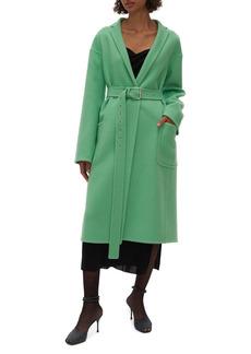 Helmut Lang Belted Wool & Cashmere Coat