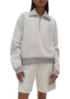 Helmut Lang Collared Front Zip Sweatshirt