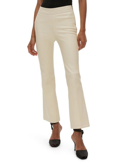 Helmut Lang Crop Flare Leather Pants