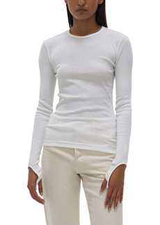 Helmut Lang Open Back Long Sleeve Top
