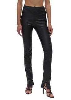 Helmut Lang Slit Leather Pants