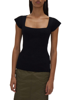 Helmut Lang Square Neck Rib Top