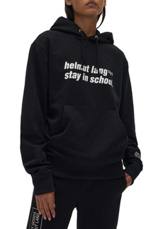 Helmut Lang Stay in School Graphic Cotton Hoodie