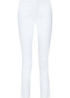 Helmut Lang Woman Stretch-cotton Twill Slim-leg Pants White