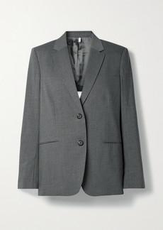 Helmut Lang Open-back Belted Wool-blend Blazer