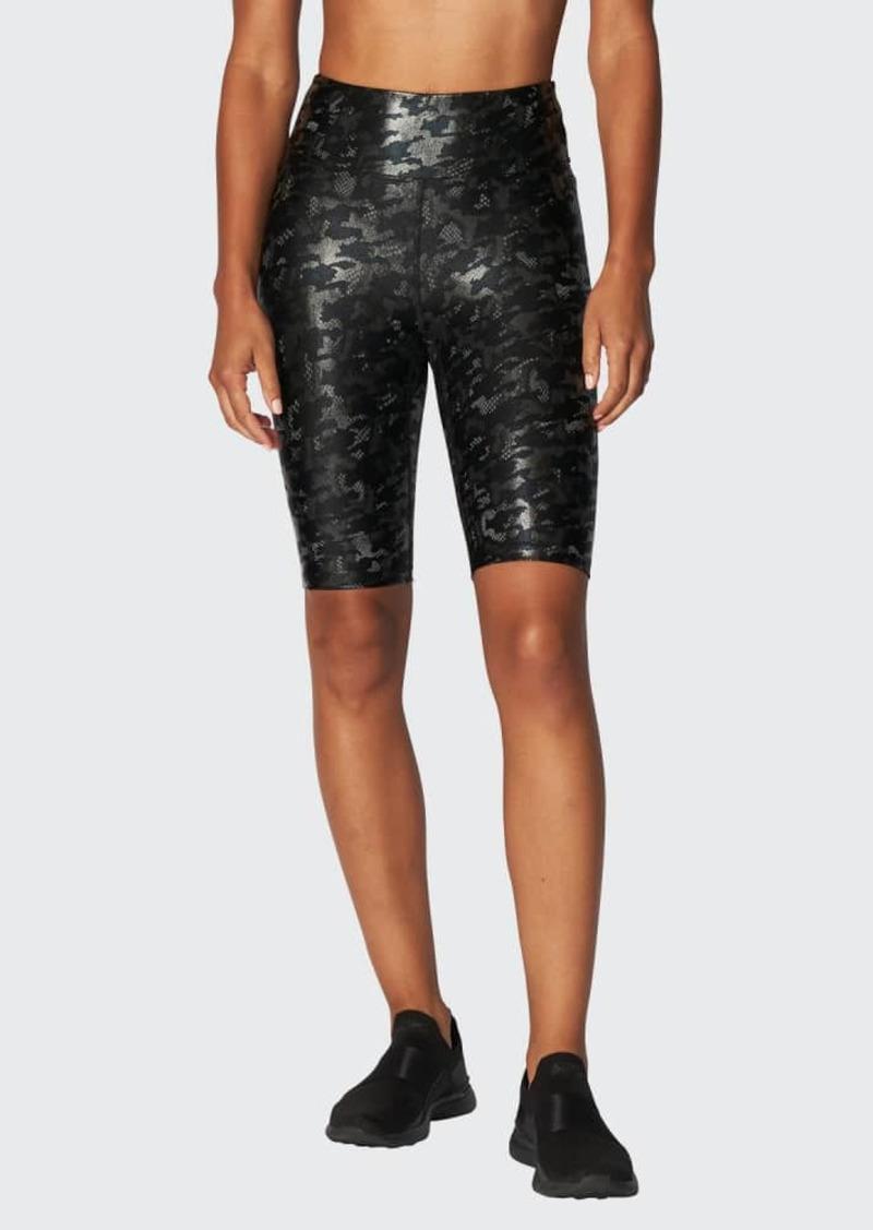 Heroine Sport Marvel Shiney Camo Biker Shorts