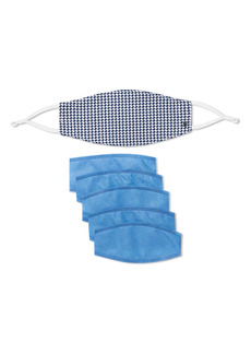 Hickey Freeman Adult Houndstooth Mask, Connector & Filter Set
