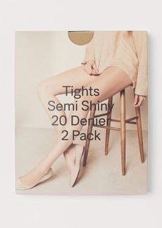 H&M H & M - 2-pack 20 Denier Tights - Beige