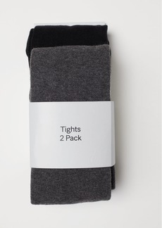 H&M H & M - 2-pack Fine-knit Tights - Gray