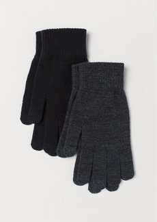 H&M H & M - 2-pack touchscreen gloves - Black