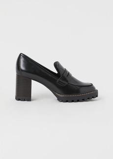 H&M H & M - Block-heel Loafers - Black