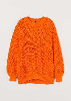 H&M H & M - Chunky-knit Sweater - Orange
