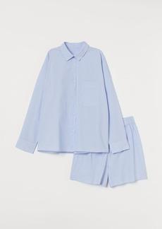H&M H & M - Cotton Pajamas - Blue